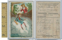 Victorian Card, 1890's, Acme Soap, Why, The Foam Is Bringing, Franklinville