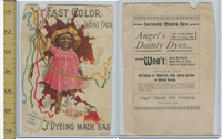 Victorian Card, 1890's, Angel Dainty Dyes, Chicago, Black Americana, Girl