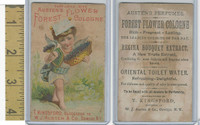 Victorian Card, 1890's, Austen Cologne, Oswego, NY, Cherub With Flowers
