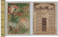 Victorian Card, 1880, JP Coats, Fishing Scene, Calendar Back