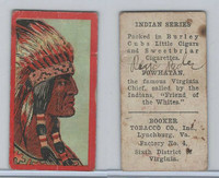 T74 Booker Tobacco, Indian Series, 1906, Powhatan