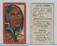 T74 Booker Tobacco, Indian Series, 1906, Queen Awashonka