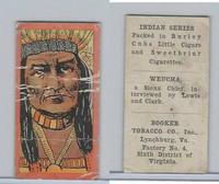 T74 Booker Tobacco, Indian Series, 1906, Weucha