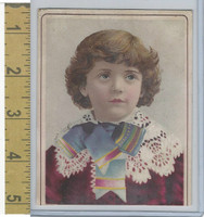 Victorian Card, 1890's, Children, Girl Red Dress (J)
