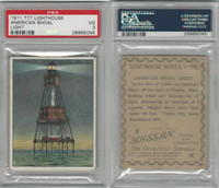 T77 Hassan, Lighthouse, 1910, American Shoal, Florida, PSA 3 VG