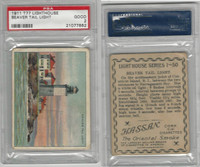 T77 Hassan, Lighthouse, 1910, Beaver Tail, RI, PSA 2 Good