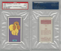 B0-0 Barratt, Walt Disney Characters, 1957, #14 Peg Dog, PSA 9 Mint