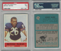 1964 Philadelphia Football, #21 Bennie McRae RC, Bears, PSA 7 NM
