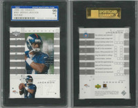 2000 Upper Deck Graded Football, #103 Jarious Jackson RC, Broncos, SGC 96