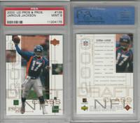 2000 Upper Deck Pros Football, #103 Jarious Jackson RC, Broncos, PSA 9 Mint