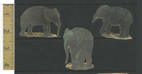 Victorian Diecuts, 1890's, Animals, Lot of 3 Elephants (21)