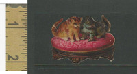Victorian Diecuts, 1890's, Cats, Two Kittens on Chair (12)