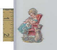 Victorian Diecuts, 1890's, Cats, Girl Holding Car, Dog (19)