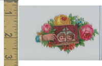 Victorian Diecuts, 1890's, Children, (51) Flowers, 2 Heads in Window, Hand