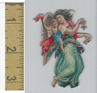 Victorian Diecuts, 1890's, Children, (55) Cherub Holding Child