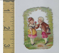 Victorian Diecuts, 1890's, Children, (62) Boy & Girl
