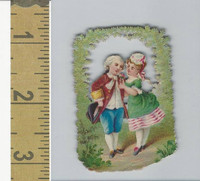 Victorian Diecuts, 1890's, Children, (63) Boy & Girl Romance