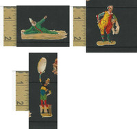 Victorian Diecuts, 1890's, Circus & Fairs, Lot of Three Clowns (9)