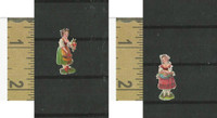 Victorian Diecuts, 1890's, Culture & People, (26) Two Girls With Flowers