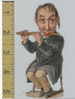 Victorian Diecuts, 1890's, Culture & People, (31) Musician Flute