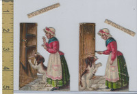 Victorian Diecuts, 1890's, Culture & People, (36) Nursery Rhyme, Mother Hubbard