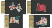 Victorian Diecuts, 1890's, Flags & Emblems, Lot of Four Cutouts, USA (1)