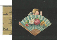 Victorian Diecuts, 1890's, Flowers, (100) Fan, Cherub, Love Crown