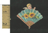 Victorian Diecuts, 1890's, Flowers, (101) Fan, Cherub, Life Peace