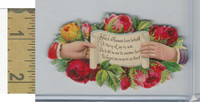 Victorian Diecuts, 1890's, Flowers, (108) Hand, Feast of Flowers