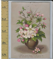 Victorian Diecuts & Cards, 1890's, Holidays, New Year, Flower Vase (2)