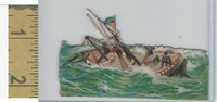 Victorian Diecuts, 1890's, Ships & Nautical, (14) Ship In Rough Seas