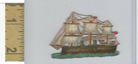 Victorian Diecuts, 1890's, Ships & Nautical, (16) USA Sailing Ship