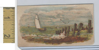 Victorian Diecuts & Cards, 1890's, Ships & Nautical, (19) Seashore, Sailing