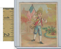 Victorian Diecuts & Cards, 1890's, Ships & Nautical, (21) Boy USA Flag