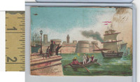Victorian Diecuts & Cards, 1890's, Ships & Nautical, (24) Port Scene
