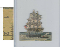 Victorian Diecuts & Cards, 1890's, Ships & Nautical, (26) Ship Cutout