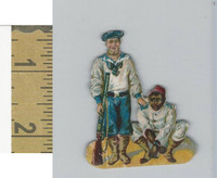 Victorian Diecuts, 1890's, Soldiers, (97) With Prisoner
