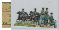 Victorian Diecuts, 1890's, Soldiers, (100) Horses Cannon Wagon