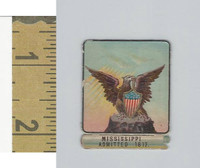 Victorian Diecuts, 1890's, US History, State Seals, Mississippi