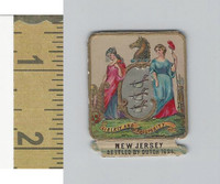 Victorian Diecuts, 1890's, US History, State Seals, New Jersey