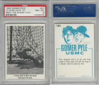 1965 Fleer, Gomer Pyle, #21 I'd Sure Hate To Meet The Spider, PSA 8 NMMT