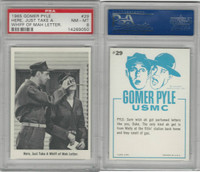 1965 Fleer, Gomer Pyle, #29 Here, Just Take A Whiff Of Mah Letter, PSA 8 NMMT