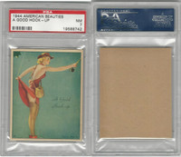 R59 Gum Inc, American Beauties, 1944, A Good Hook-up, Fishing, PSA 7 NM