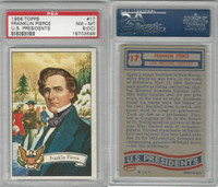 1956 Topps, U.S. Presidents, #17 Franklin Pierce, PSA 8 OC NMMT