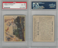 R1 Goudey, Action Gum, 1938, #1 Tanks Attack, PSA 4 VGEX