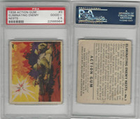 R1 Goudey, Action Gum, 1938, #3 Eliminating Enemy Nests, PSA 2.5 Good+