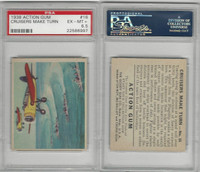 R1 Goudey, Action Gum, 1938, #16 Cruisers Make Turn, PSA 6.5 EXMT+