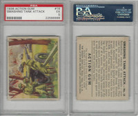 R1 Goudey, Action Gum, 1938, #18 Smashing Tank Attack, PSA 5 EX