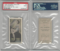 P50-91b Phillips, Beauties Of To-Day, 1938, #3 Jan Churchill, PSA 9 Mint