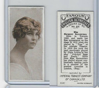 C9 Imperial Tobacco, Famous English Actresses, 1924, #25 Margaret Bannerman